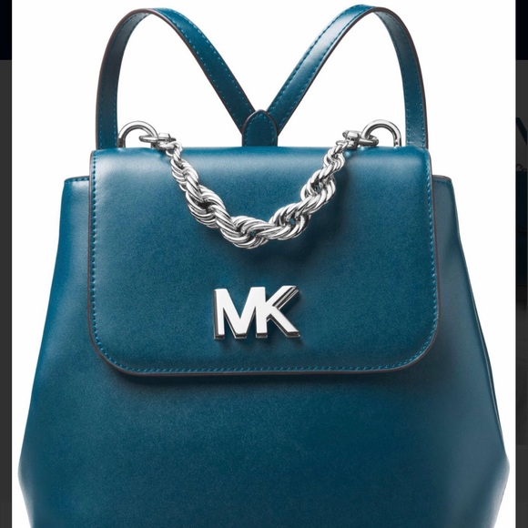 cd294c5424d9 Micheal Kors Mott Luxe Teal Backpack